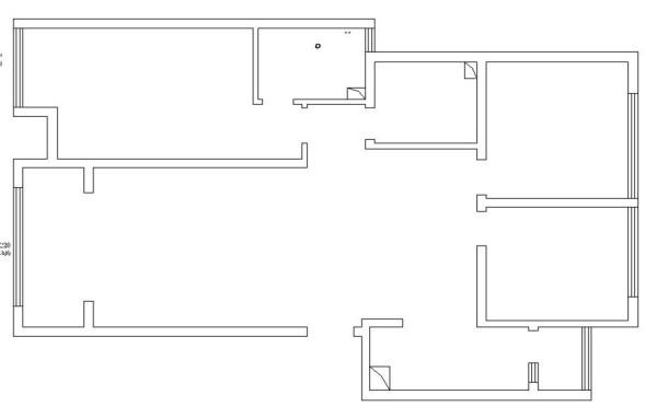 从户型图中可以看出,客餐厅分开,南北通透,双卫生间都为明卫,各房间均比较方正,各个空间比较宽敞