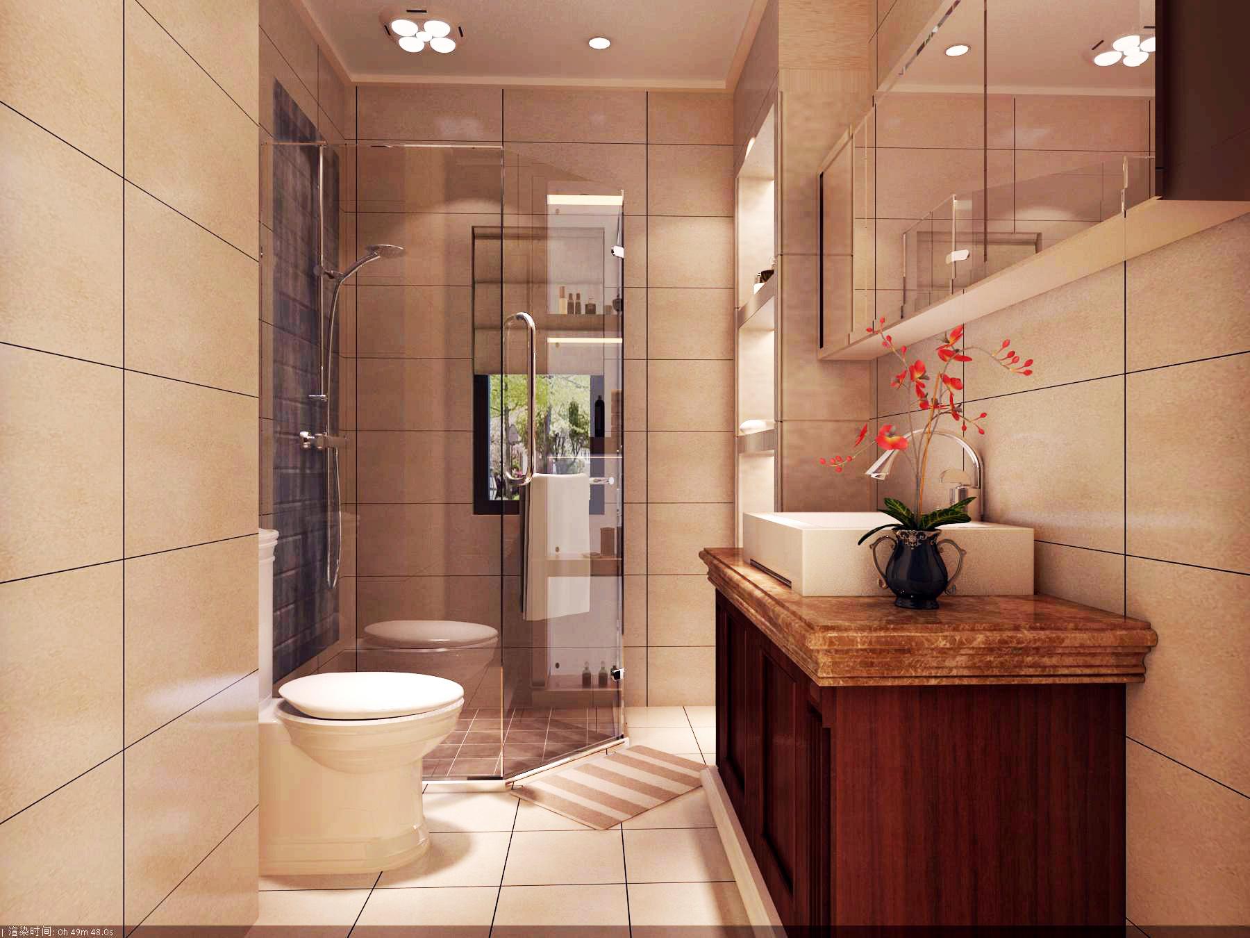 中式 四居 卫生间图片来自北京今朝装饰刘在V7西园中式文化生活的分享