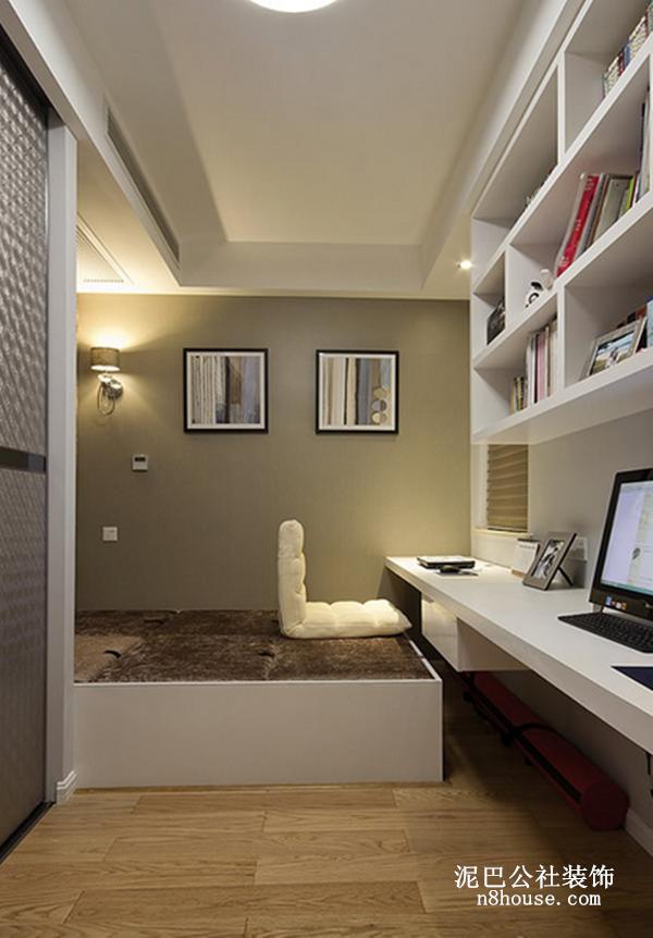 现代简约 实用 线条 二居 书房 书房图片来自泥巴公社设计师黄雅君在现代简约 华盛花园的分享