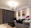 素雅窗帘,金属吊灯,典型的简约风格
