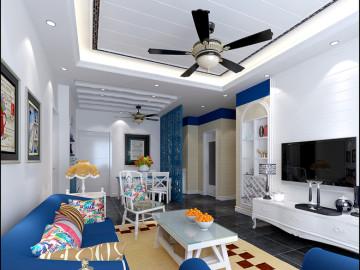 中建国际城80平两居室装修
