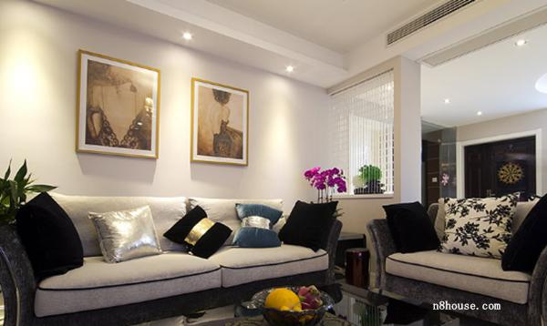 现代简约 实用 线条 二居 客厅 客厅图片来自泥巴公社设计师黄雅君在现代简约 华盛花园的分享