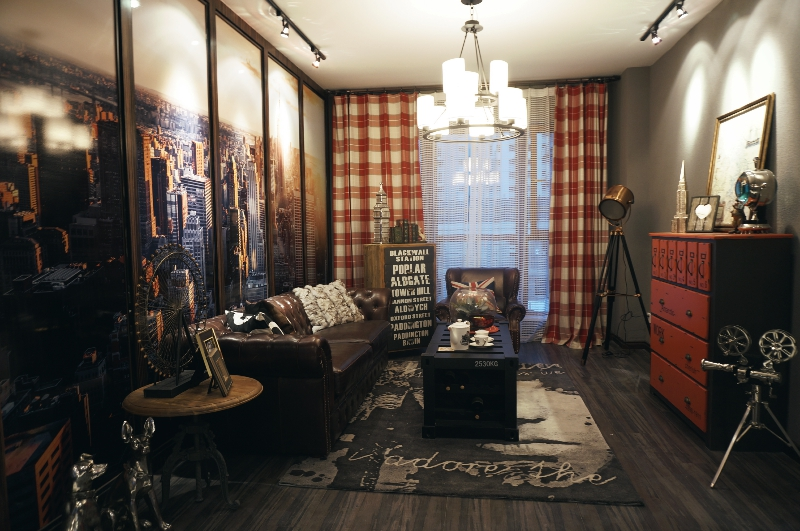 客厅图片来自斯斯98在《夕阳下的曼哈顿》loft工业风的分享