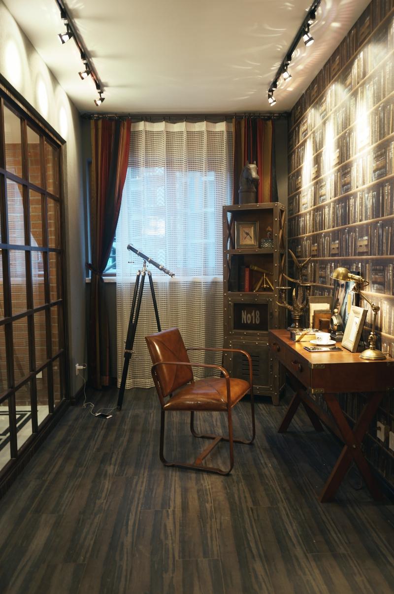 书房图片来自斯斯98在《夕阳下的曼哈顿》loft工业风的分享