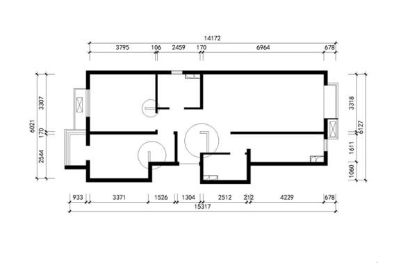 门厅新建墙体,解决门厅鞋柜空间,卧室新建墙垛,嵌入式衣柜,达到房屋的整体效果。取消厨房左侧的卫生间,改成储物间,增加储物功能。