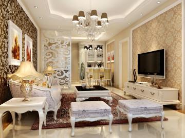12万90平米带有奢华感的欧式风格