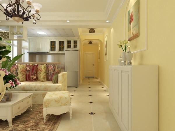 此户型为典型的两室一厅一厨一卫,南北通透,采光通风良好,但其走廊狭长,且餐厅空间较小。