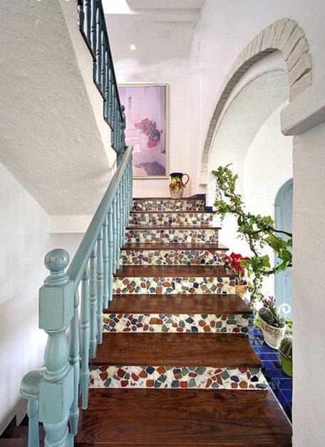 别墅 小资 地中海 今朝装饰 楼梯图片来自今朝装饰老房装修通王在地中海的诱惑的分享