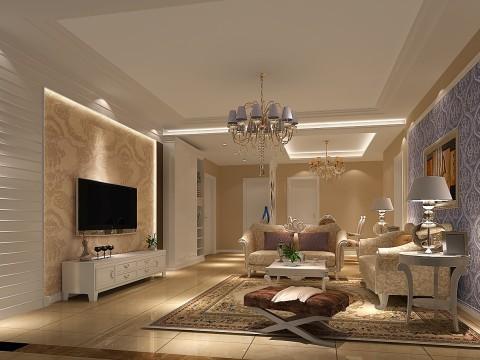 客厅展示--豪华、奢侈、大气尽现在欧式风格中
