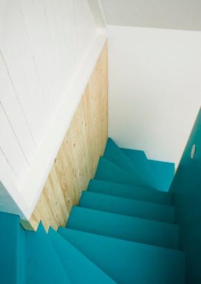 地中海 公寓 今朝装饰 白领 旧房改造 80后 楼梯图片来自今朝装饰老房装修通王在海洋般的小公寓让人乐此不疲的分享