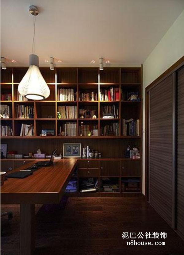 现代中式 中国元素 实用 三居 书房 书房图片来自泥巴公社设计师肖勇在现代中式 君悦紫苑的分享