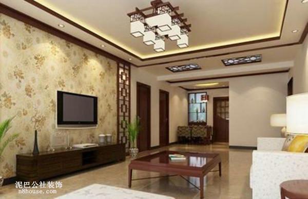现代中式 中国元素 实用 三居 客厅 客厅图片来自泥巴公社设计师肖勇在现代中式 君悦紫苑的分享