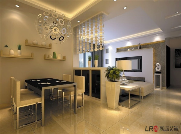 装饰材料与色彩设计,为现代风格的室内效果提供了空间背景。首先,在选材上不再局限于石材、木材、面砖等天然材料,而是将选择范围扩大到金属、涂料、玻璃、塑料以及合成材料