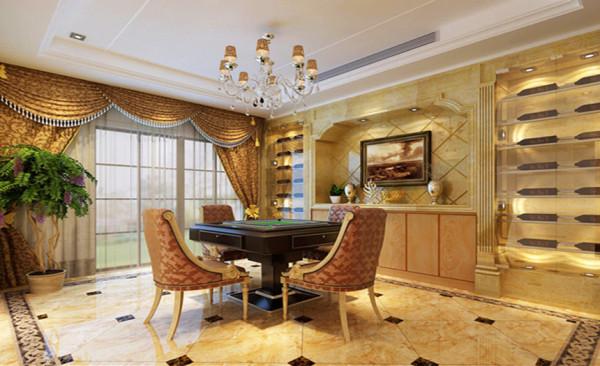 整个空间饱含着欧式风格的端庄、欧式风格的贵气、和居家的温馨迷人。客厅、餐厅作为居家生活中重要的公共活动与会客空间,整体上保持简洁、明快、大方、宽敞的特点。