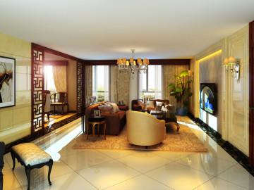 东晶国际公寓新中式装饰设计