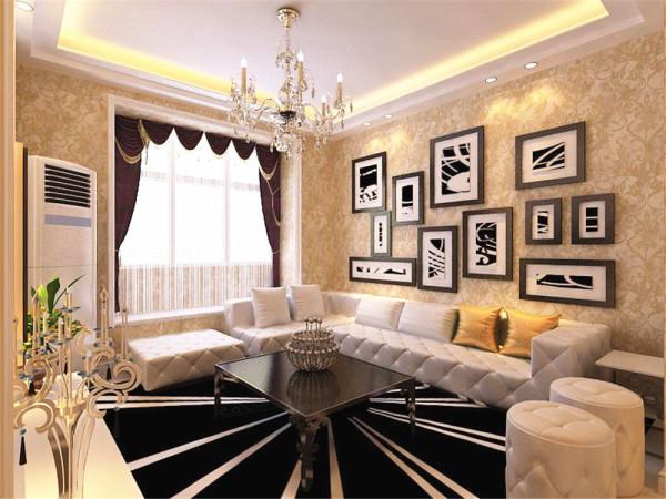 整个空间采用在造型上,采用简洁的造型,客厅、餐厅、玄关,这三处用了两层石膏线吊顶,影视墙用的是简洁的石膏线,中间配以菱形的石膏拉缝沙发墙用的是黑白色挂画装饰,配经典筒灯和灯带装点空间的美感。