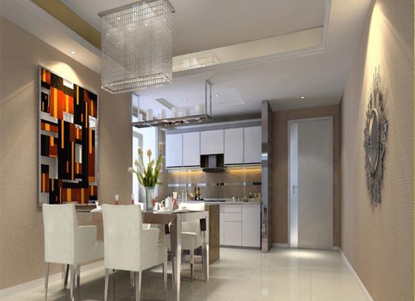 设计理念:对于餐厅,最重要是使用起来要方便。餐厅无论是放在何处,都要靠近厨房,这样便于我们的上菜。餐厅不仅是吃饭,也是家人聚在一起的时间,所以要令区域感觉安静舒适。
