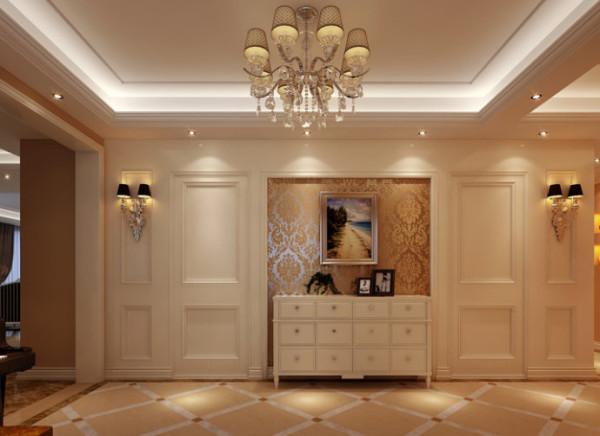 欧式风格的特点欧式风格强调以华丽的装饰、浓烈的色彩、精美的造型达到雍容华贵的装饰效果。欧式门厅顶部喜用大型灯池,并用华丽的枝形吊灯营造气氛。门窗上半部多做成圆弧形,并用带有花纹的石膏线勾边。