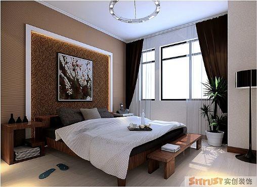 主卧在原始的结构上做成了一个舒适的套房,独立卫生间和更衣间让主人享受到家居一站式体验