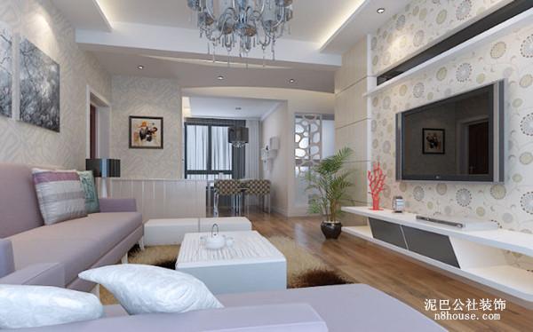 现代 城市 简约 二居 客厅 客厅图片来自泥巴公社设计师黄雅君在现代 华韵城市风情的分享