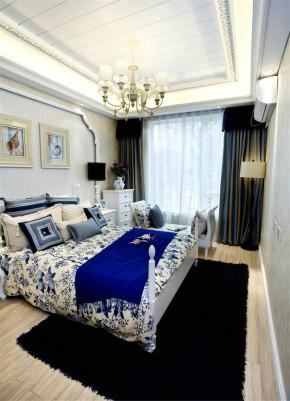 简单 舒适 地中海 卧室图片来自业之峰装饰旗舰店在136平3房地中海风格悠哉悠哉的分享