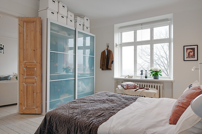 北欧 三居 白领 收纳 80后 小资 卧室图片来自沪上名家装饰在118平--经典北欧公寓的分享