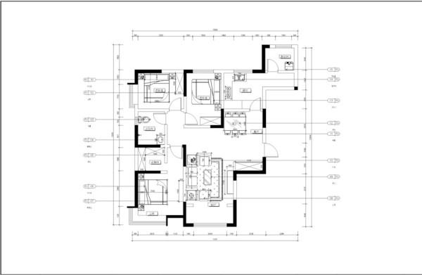 入户门右手边是餐厅位置,空间宽敞,适合放置6人餐桌,和客厅呈L字型,后期会在设计上进行区分空间。餐厅旁边是厨房,厨房自带阳台采光通风极好。厨房设计L字型,使用起来方便。厨房里面的隔间设计成洗衣房。
