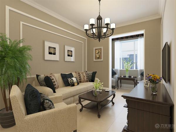 该户户型是北宁湾95平米两室一厅一厨一卫户型,业主的设计要求为美式简约。