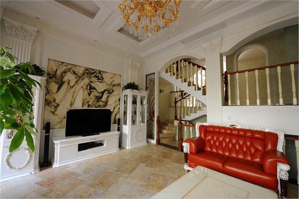 欧式 混搭 别墅 80后 白领 客厅图片来自长沙金煌装饰在复古与摩登古典欧式风格的分享