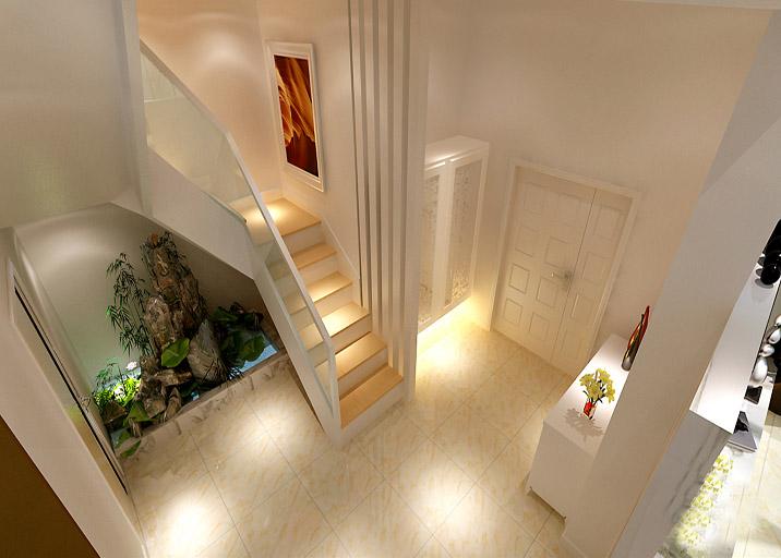 简约 别墅 楼梯图片来自实创装饰上海公司在极简风格装修清新明了有创意的分享