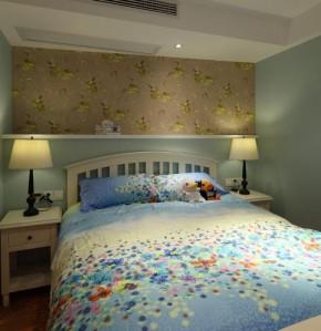 地中海 收纳 二居 美观 舒适 卧室图片来自佰辰生活装饰在82平超美地中海风两室一厅的分享
