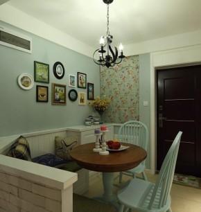 地中海 收纳 二居 美观 舒适 餐厅图片来自佰辰生活装饰在82平超美地中海风两室一厅的分享