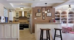 美式 舒适 收纳 环保 跃层 三口之家 厨房图片来自佰辰生活装饰在138平现代美式环保舒适跃层的分享