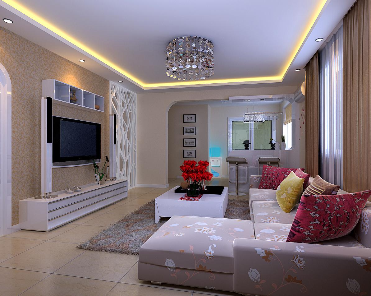 现代简约 三居 婚房装修 80后 客厅图片来自实创装饰上海公司在简约婚房装修简洁不失大方的分享