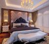 卧室空间设计中,色调更加柔和,材质更加温和,地面拼花木地板更是让主人在卧室就能享受到大自然的亲近与美好。