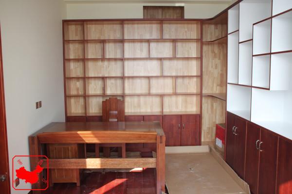 农大家属院200平中式案例 书房书柜 博古柜