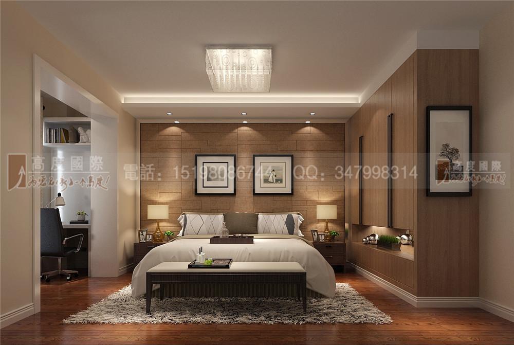 大成郡 现代 简约 卧室图片来自成都高度国际别墅装饰在大成郡——现代简约风格的分享