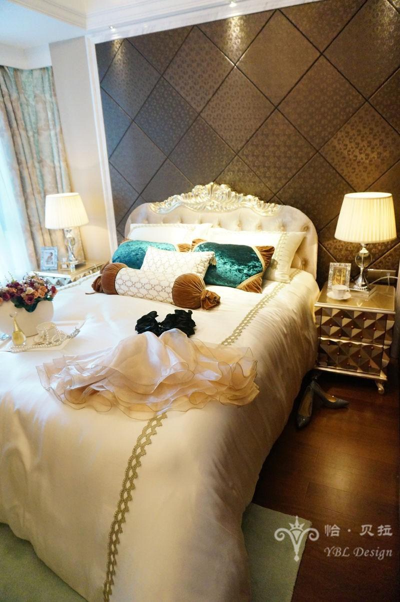 欧式 二居 80后 小资 卧室图片来自广州怡贝拉装饰工程在佛山普君新城•华府21A样板间的分享