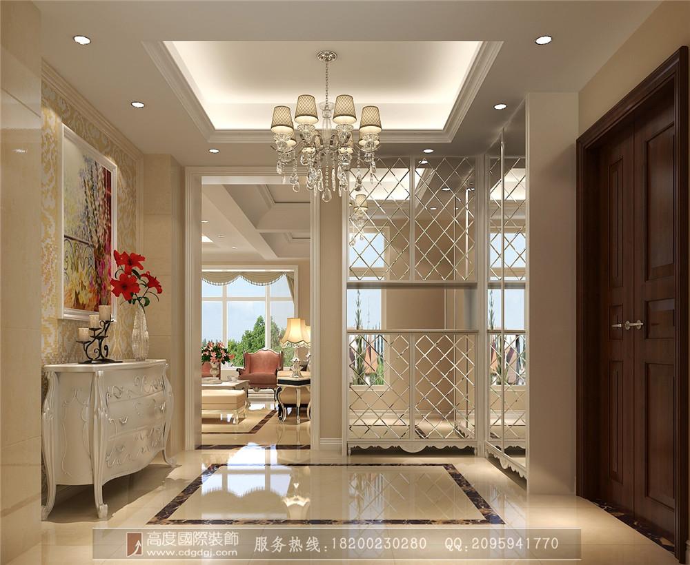 简约 欧式 小资 三居 二居 别墅 玄关图片来自高度国际家居别墅装饰在简欧风格5的分享