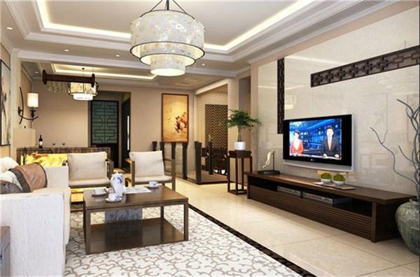 客厅图片来自湖南名匠装饰在金色溪泉湾新中式风格的分享
