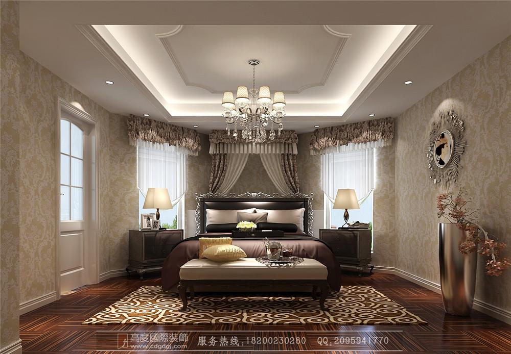 简约 欧式 小资 三居 二居 别墅 卧室图片来自高度国际家居别墅装饰在简欧风格5的分享