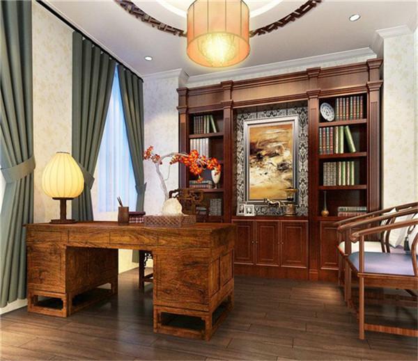 书房图片来自湖南名匠装饰在金色溪泉湾新中式风格的分享