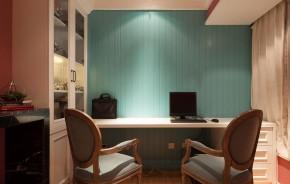 简约 混搭 三口之家 温馨 舒适 书房图片来自佰辰生活装饰在简约美式混搭风三口之家的分享