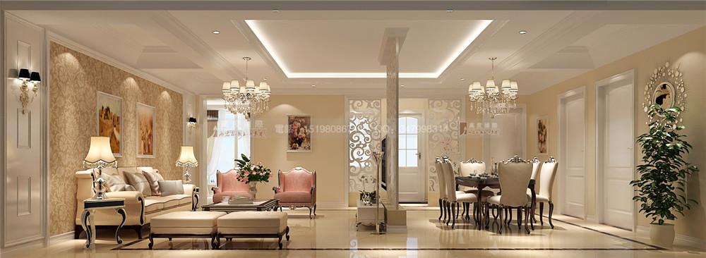 中德英伦联 简欧风格 客厅图片来自成都高度国际别墅装饰在中德英伦联邦——简欧风格的分享