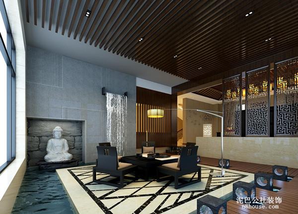 新中式 实用 对称 三居 书房 书房图片来自泥巴公社设计师李轶在新中式 格兰小镇的分享