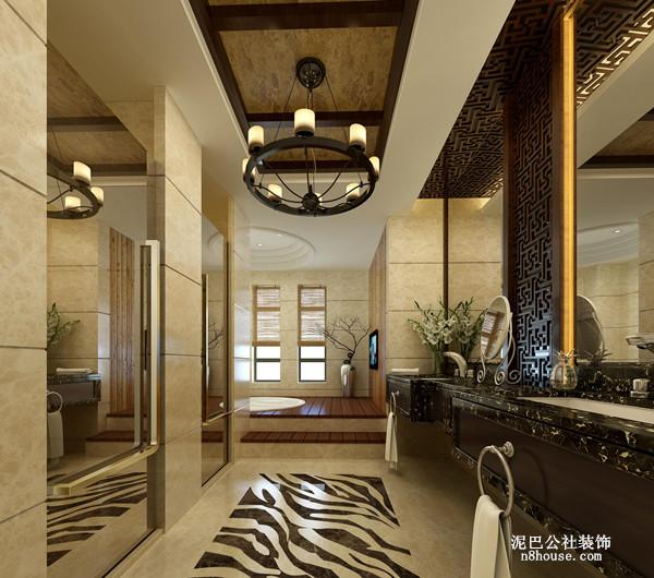 新中式 实用 对称 三居 卫生间 卫生间图片来自泥巴公社设计师李轶在新中式 格兰小镇的分享