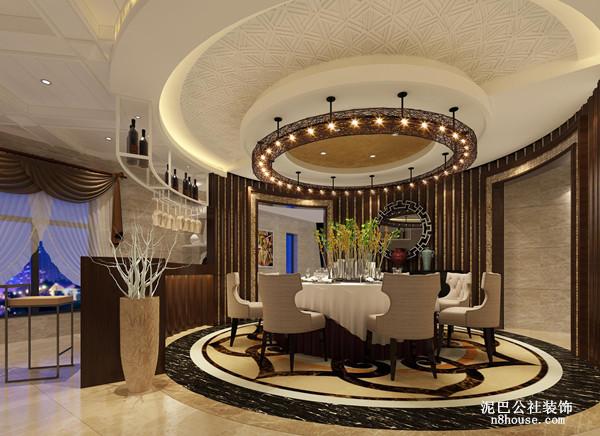 新中式 实用 对称 三居 餐厅 餐厅图片来自泥巴公社设计师李轶在新中式 格兰小镇的分享