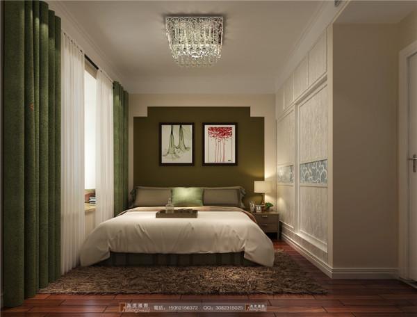 中大君悦金沙卧室细节效果图成都高度国际装饰