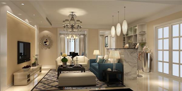 中大君悦金沙客厅细节效果图成都高度国际装饰