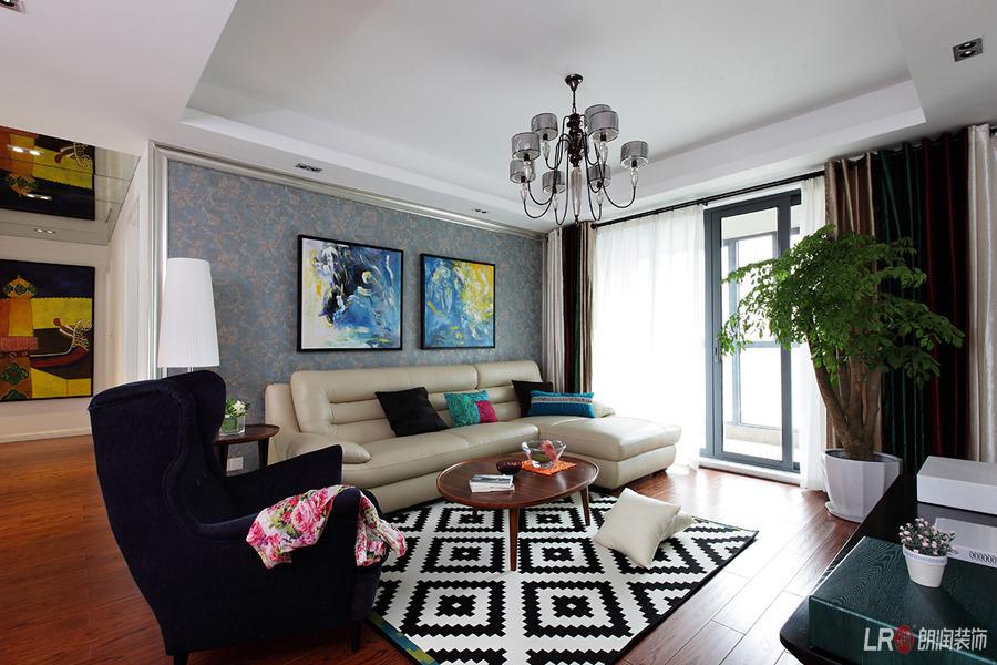 现代 白领 三居 85后 客厅图片来自朗润装饰工程有限公司在保利花园-现代的分享